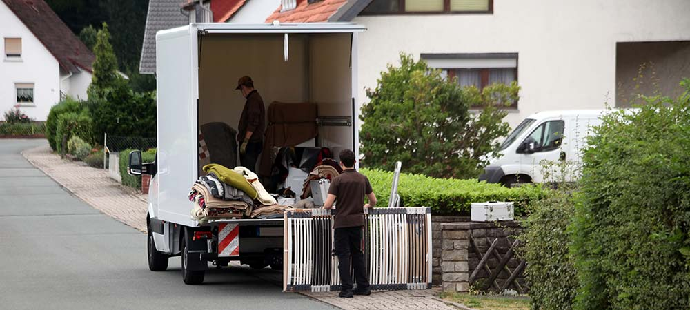 Moving Van in Front of Home